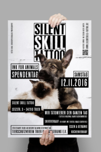 Poster / Flyer Design für Silent Skill Tattoo in Trier