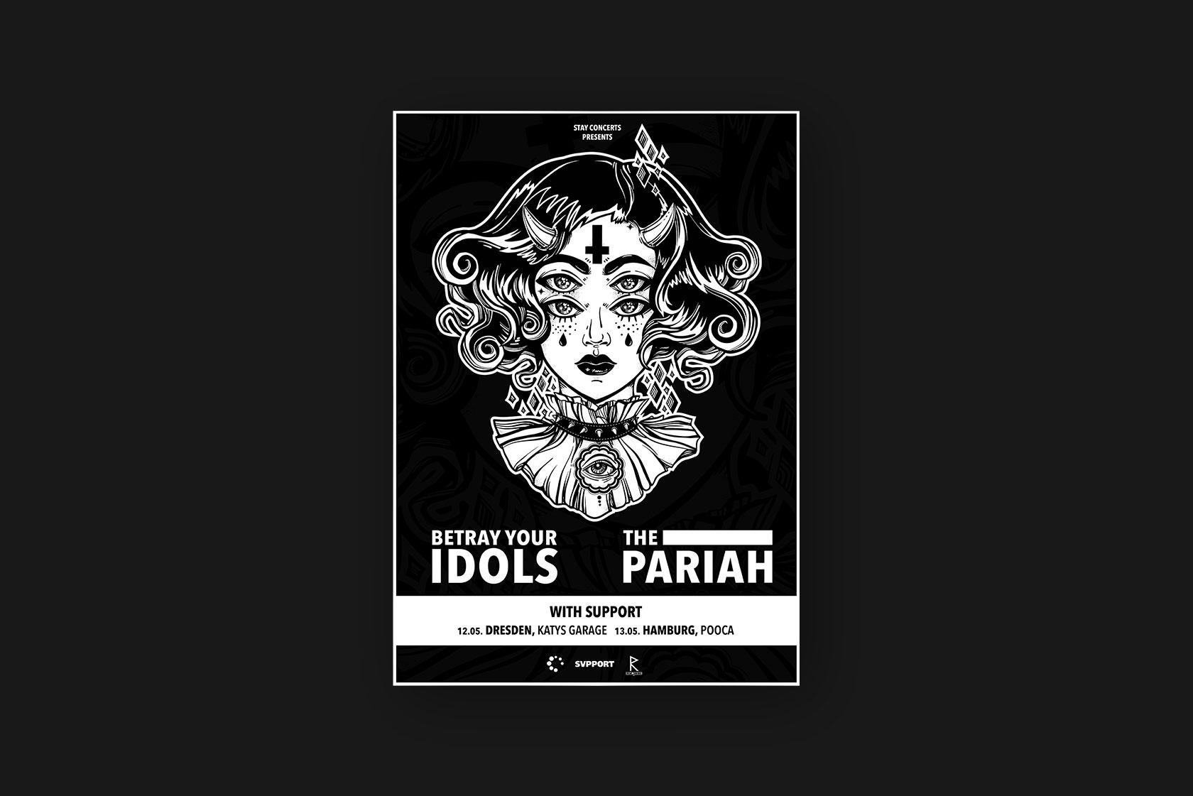 Printdesign für Betray Your Idols aus Ahrweiler