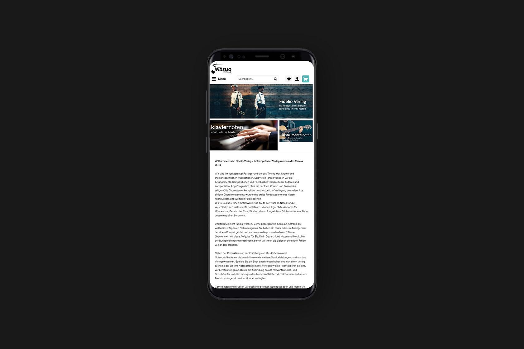 Responsive Webdesign für Fidelio-Verlag aus Gerolstein