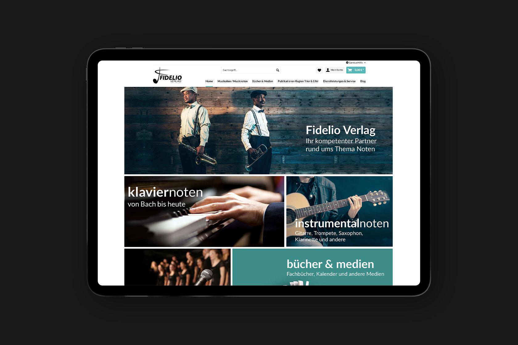 Webdesign für Fidelio-Verlag aus Gerolstein