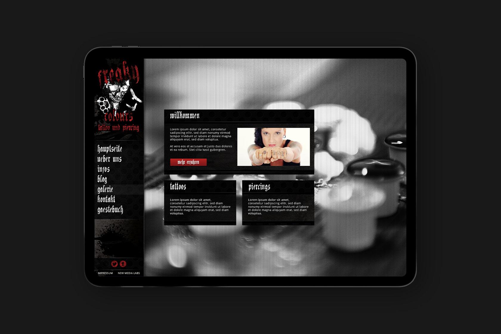Webdesign für Freaky Colours aus Esch