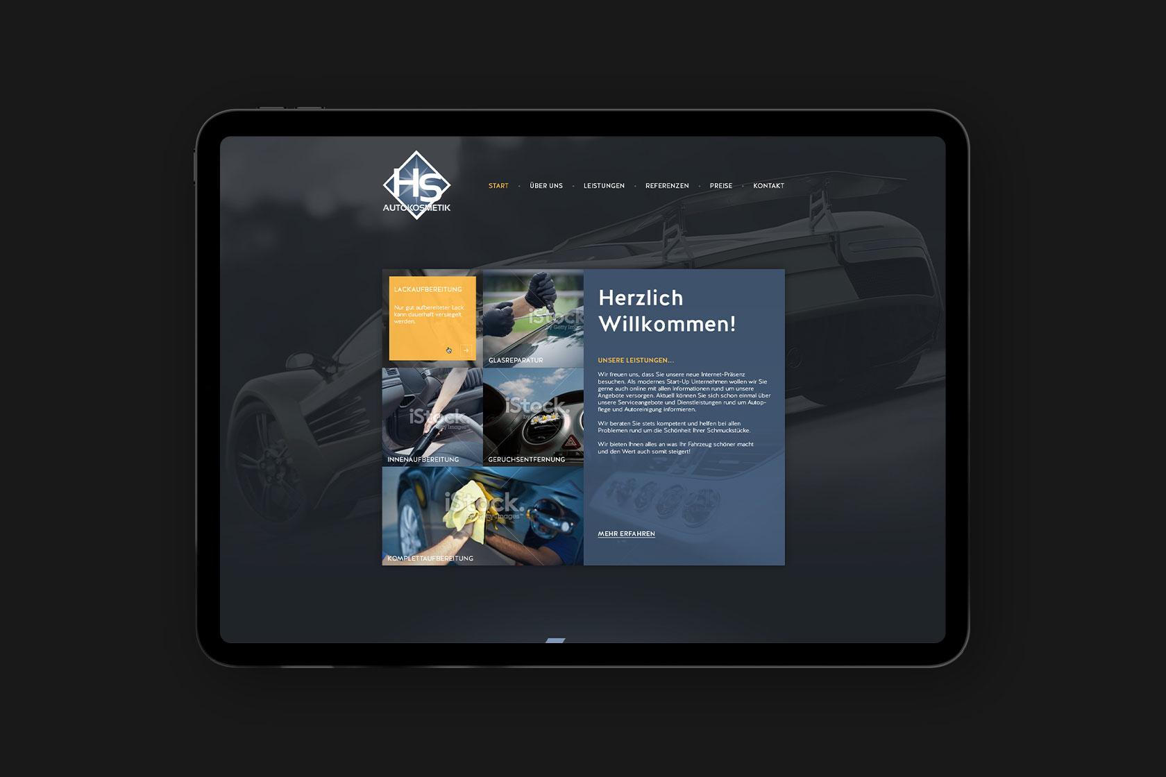Webdesign für HS-Autokosmetik aus Landscheid
