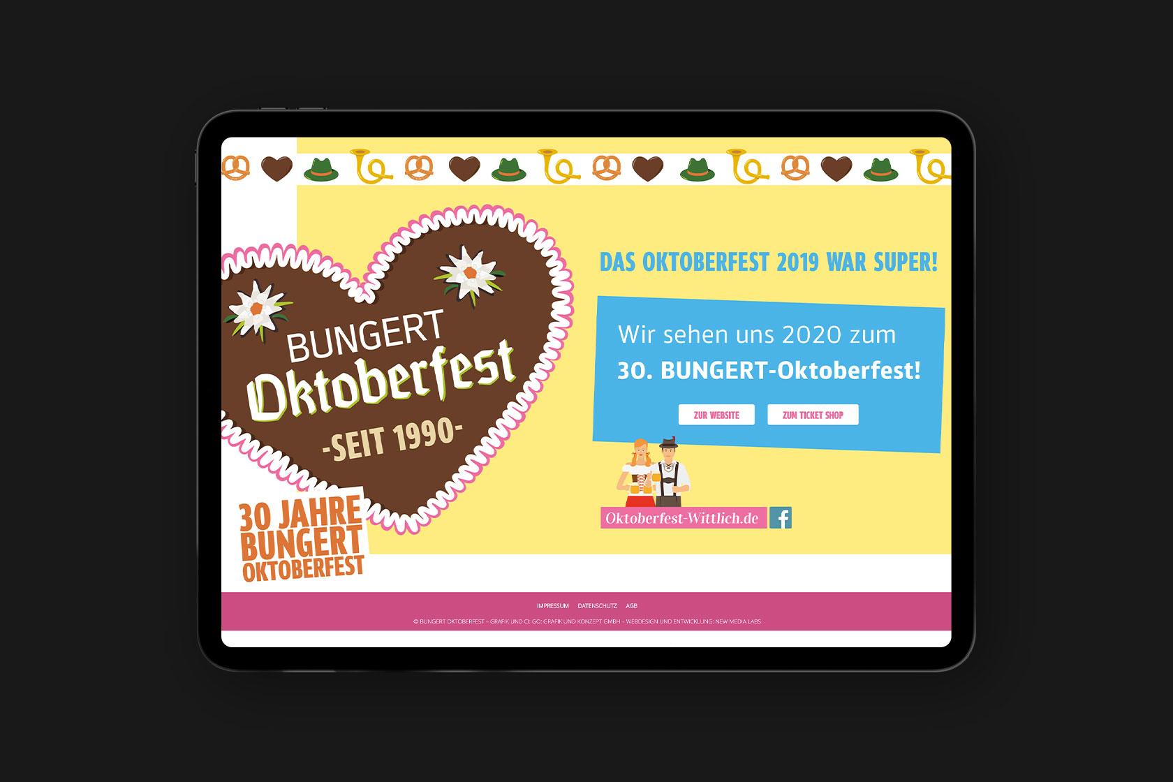 Webdesign für Oktoberfest Wittlich