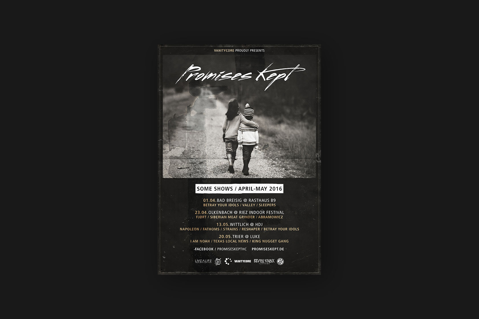 Printdesign für Promises Kept
