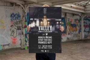 Valley, Konzertposter Design