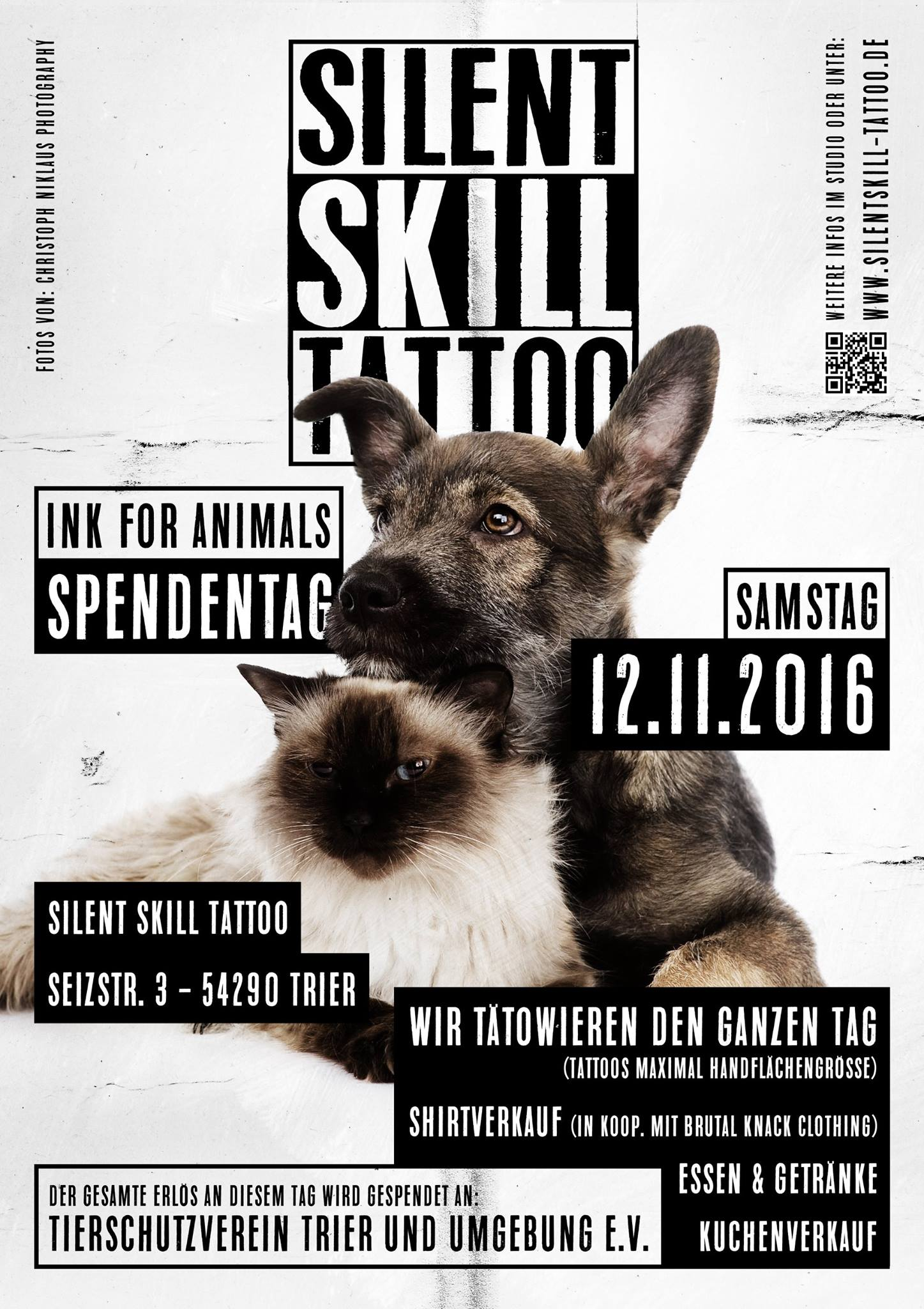 Silent Skill Tattoo, Ink For Animals