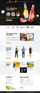 Warsteiner Distribution, WordPress Webdesign und Entwicklung