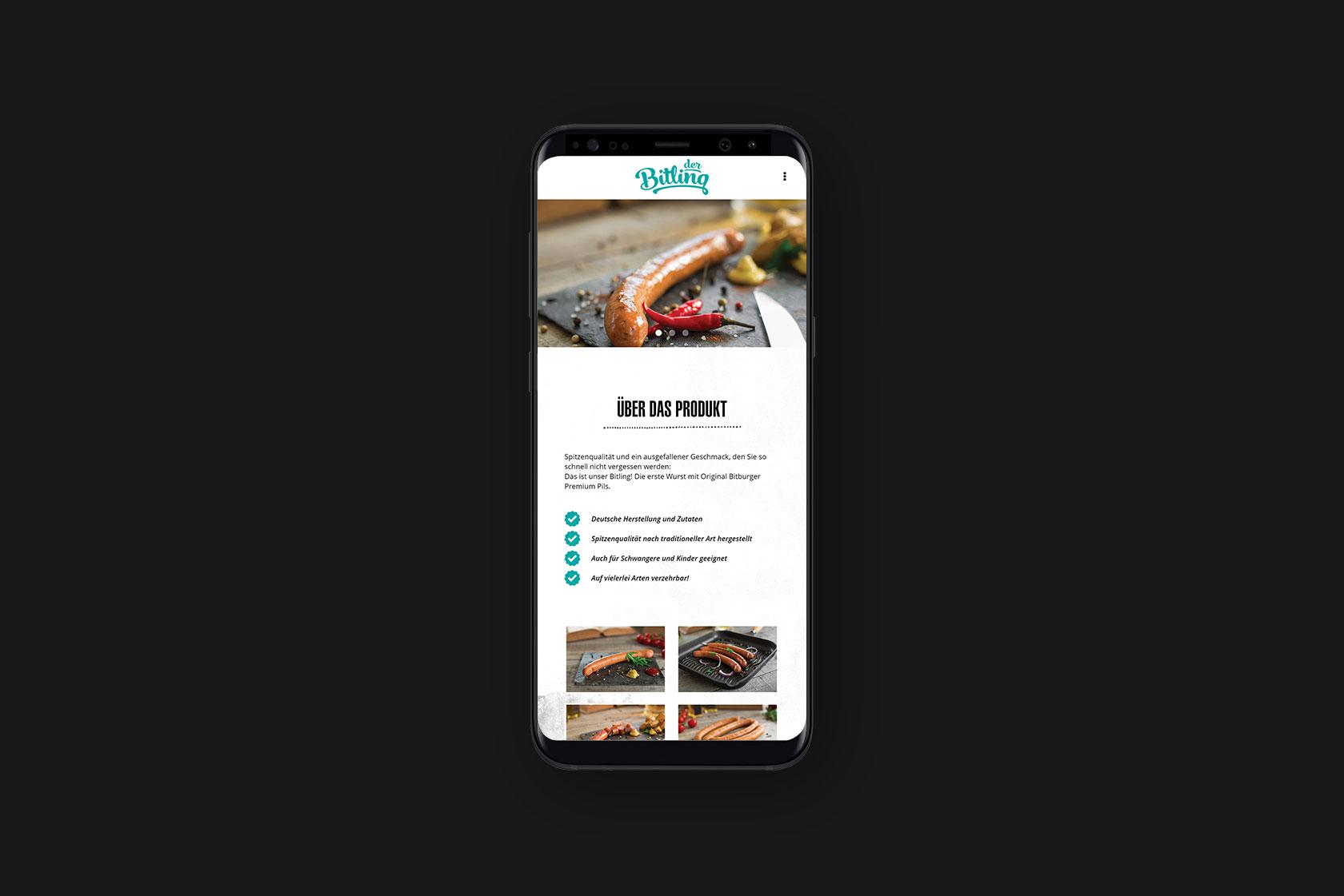 Responsive Webdesign für Der Bitling - Thomas Streit aus Osann