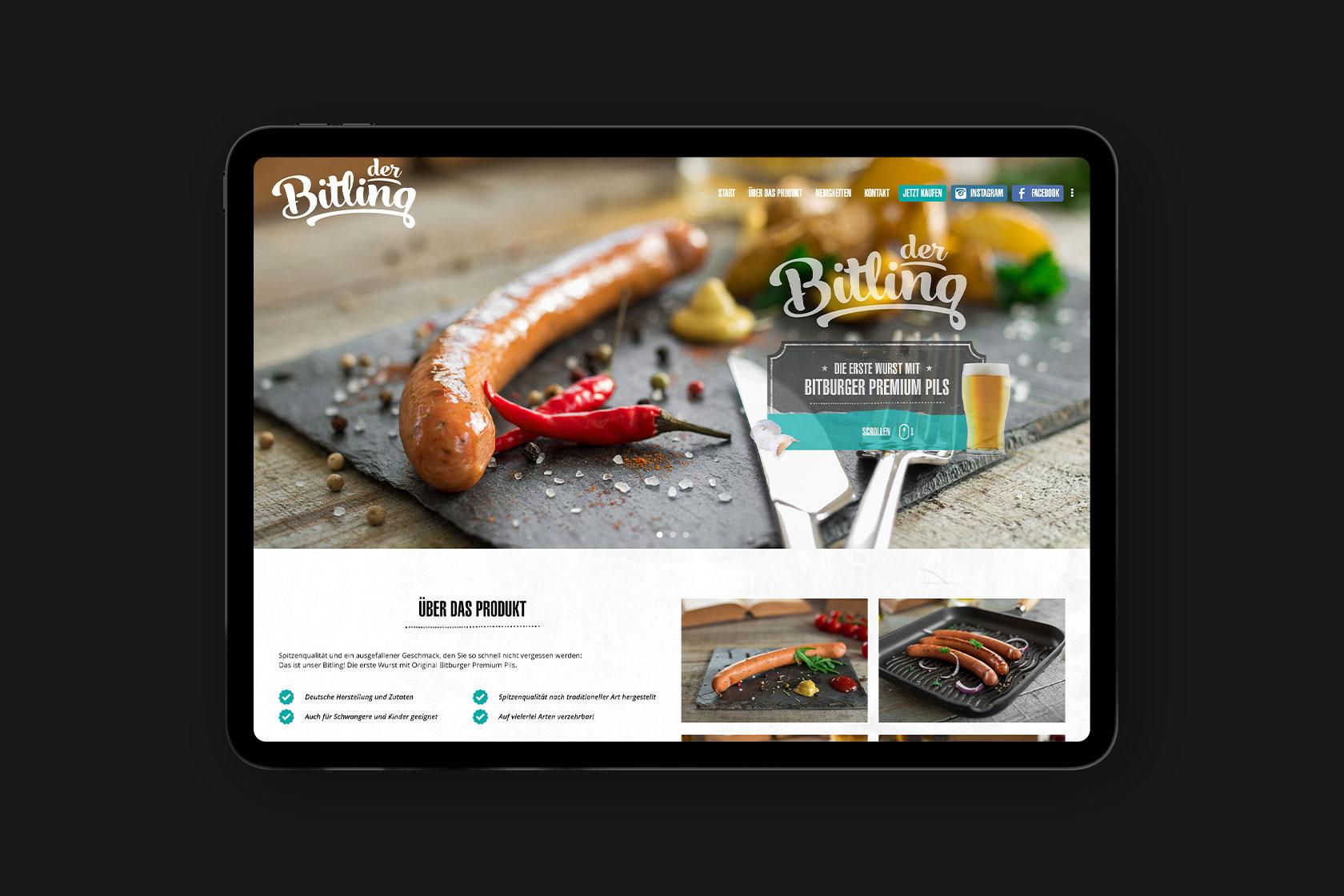 Webdesign für Der Bitling - Thomas Streit aus Osann