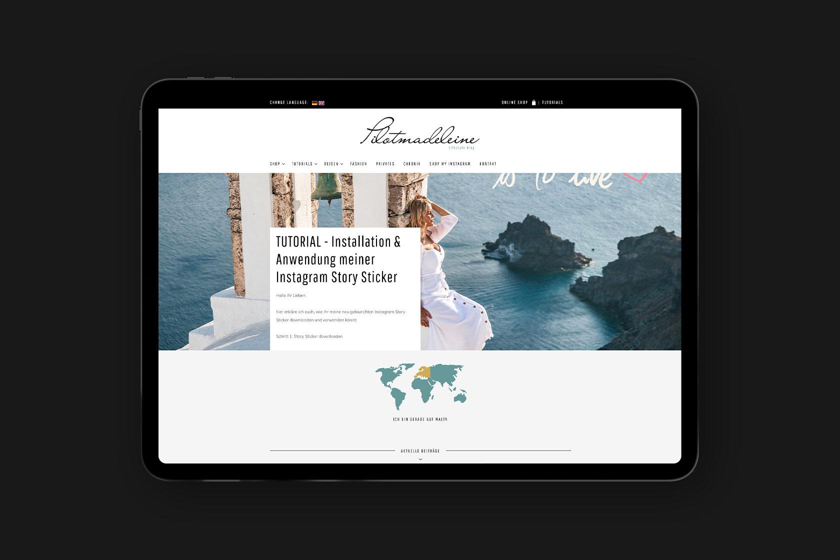 Webdesign für pilotmadeleine – Inh.: Madeleine Schneider-Weiffenbach aus Malta