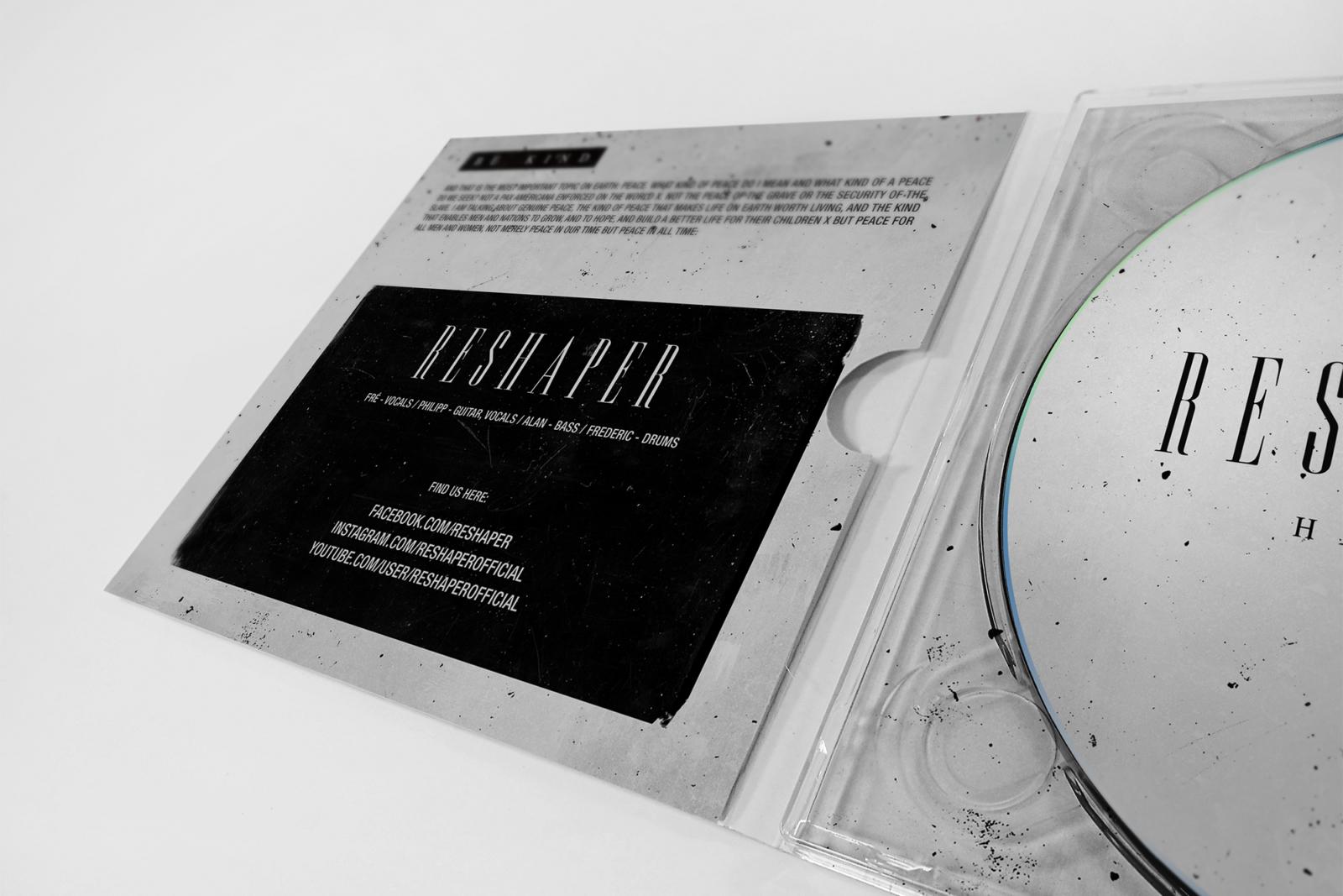 Printdesign und CD Artwork für Reshaper