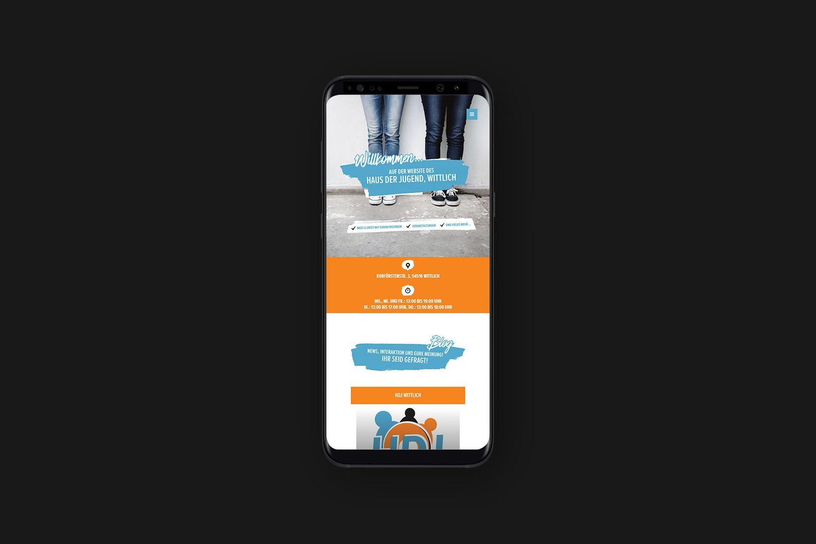 Responsive Webdesign für das Haus der Jugend in Wittlich