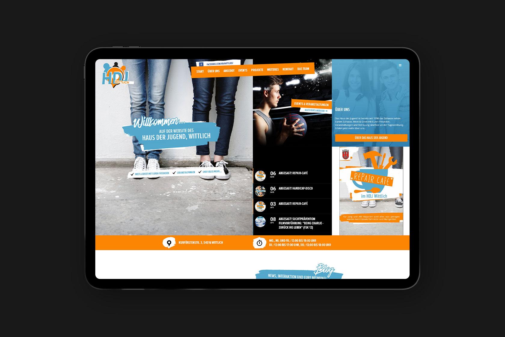 Webdesign für das Haus der Jugend in Wittlich