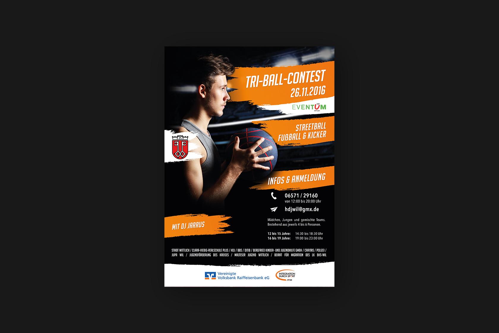 Design der Poster für das Jugend-Fussballtunier in Wittlich