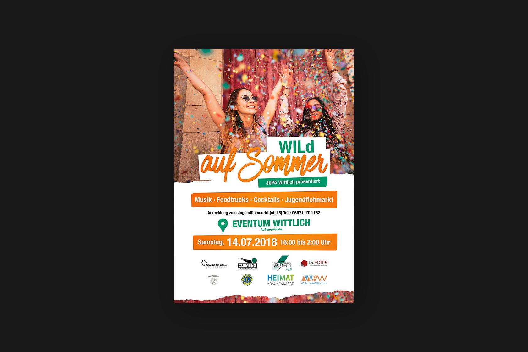 Design der Poster für Wild auf Sommer