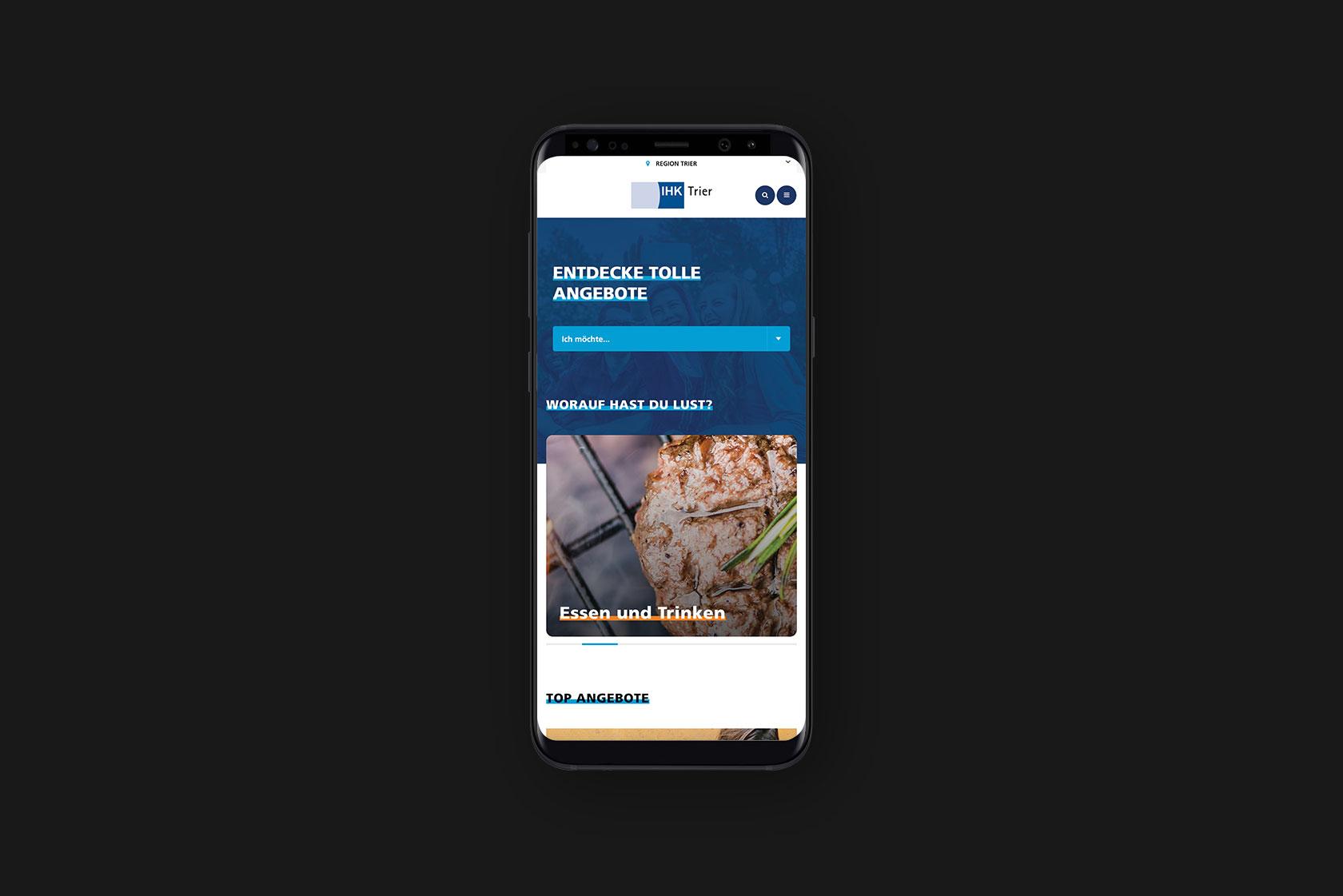 Responsive Webdesign für die IHK Trier Azubicard aus Trier