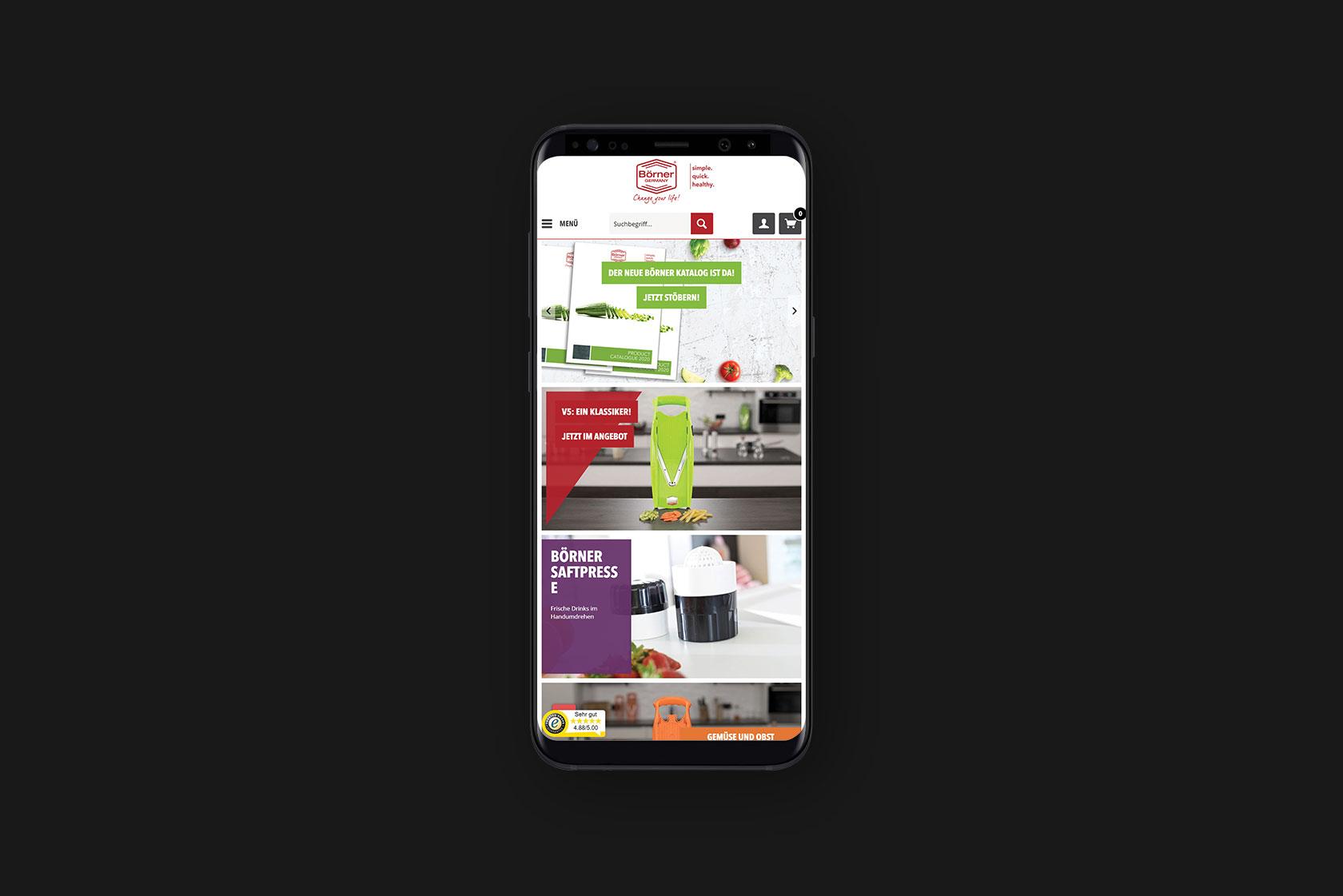 Responsive Webdesign für Börner Distribution International GmbH aus Landscheid-Niederkail