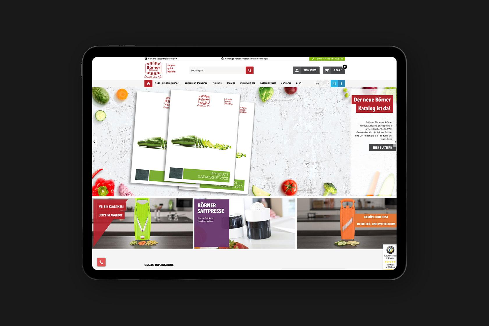 Webdesign für Börner Distribution International GmbH aus Landscheid-Niederkail