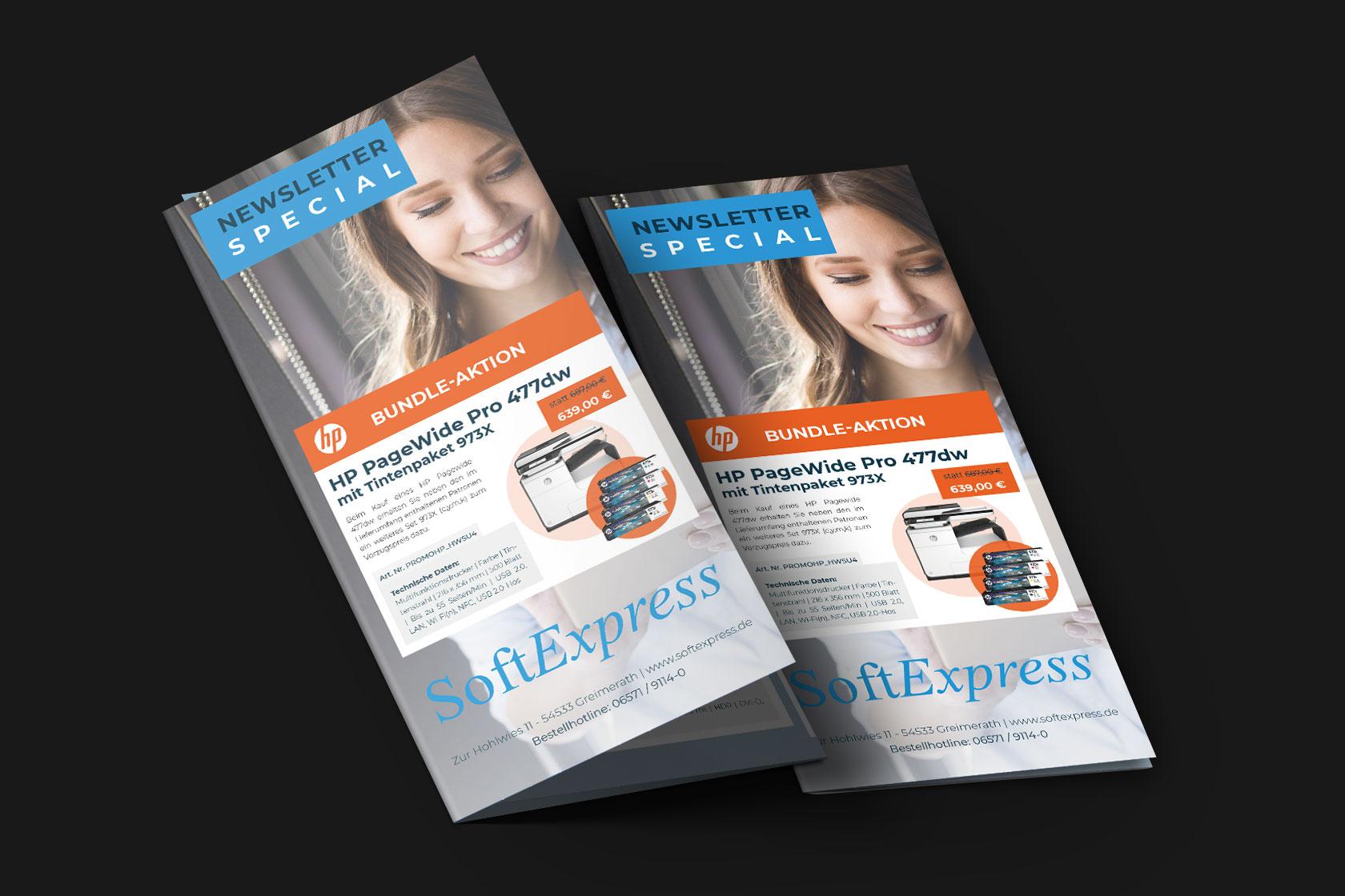 Monatlicher Flyer von SoftExpress