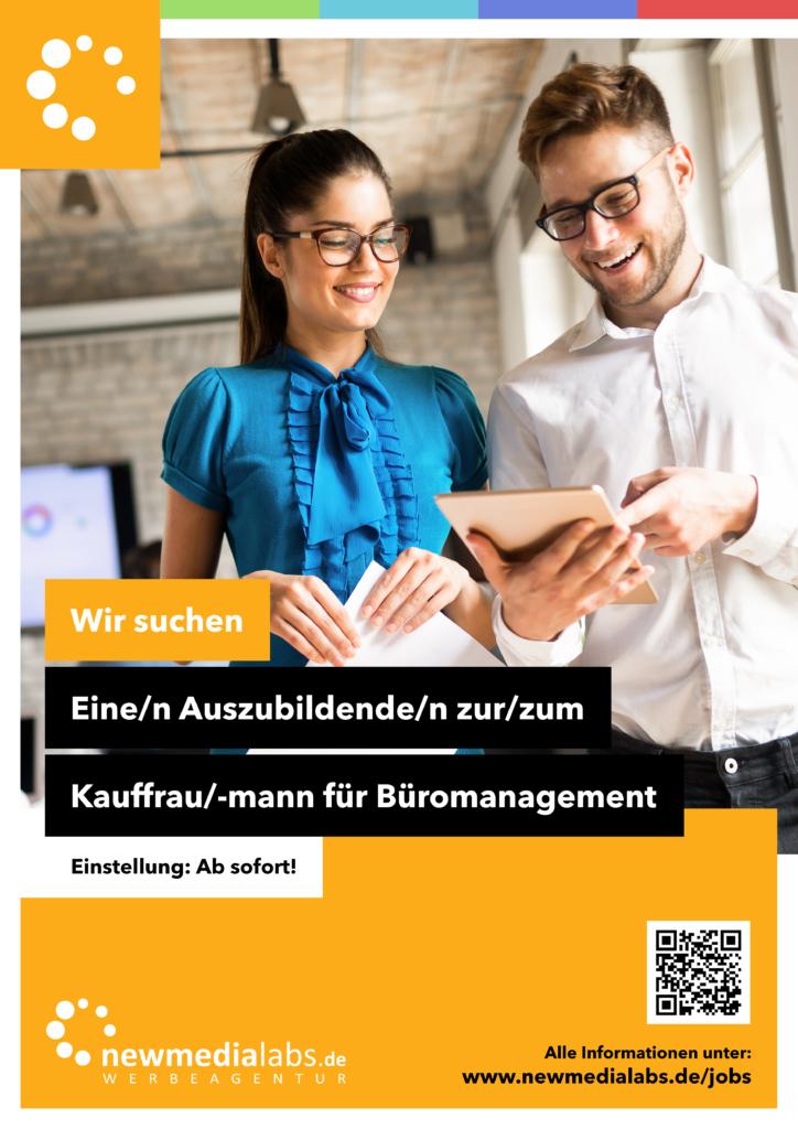 Wir suchen: Eine/n Auszubildende/n Kauffrau/-mann für Büromanagement (m/w/d)