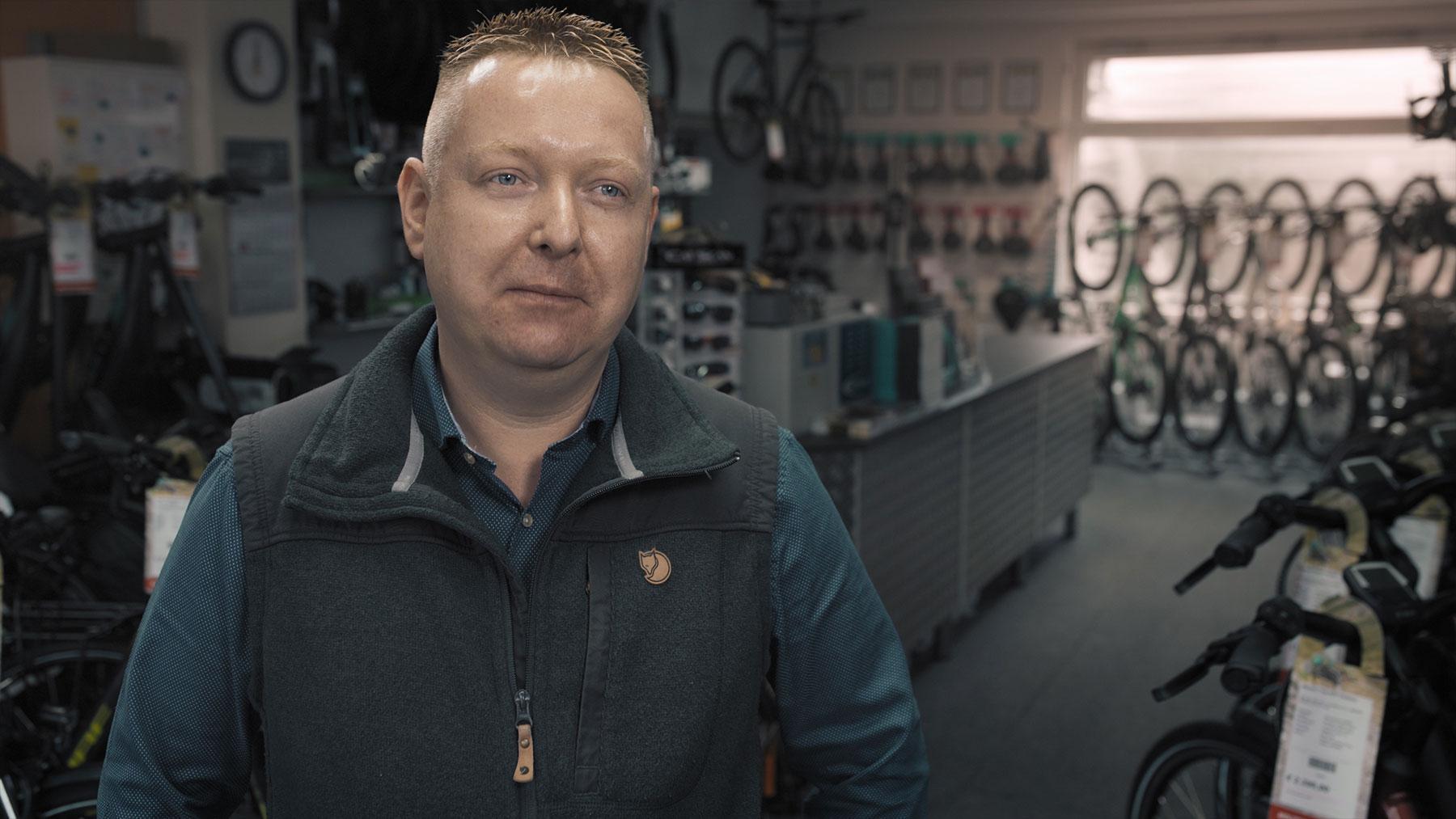Stefan Molitor von Molitor's Bike Shop über die Werbeagentur in Wittlich an der Mosel