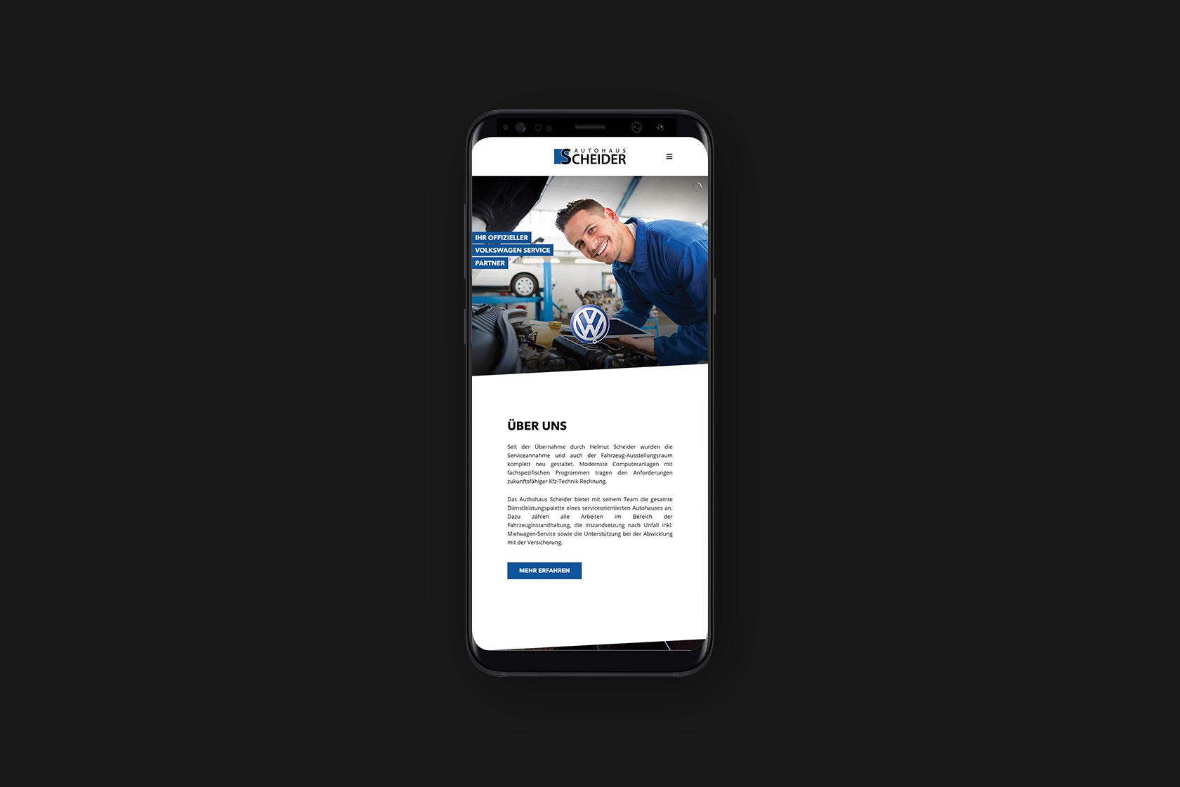 Responsive Webdesign für Autohaus Scheider aus Wittlich