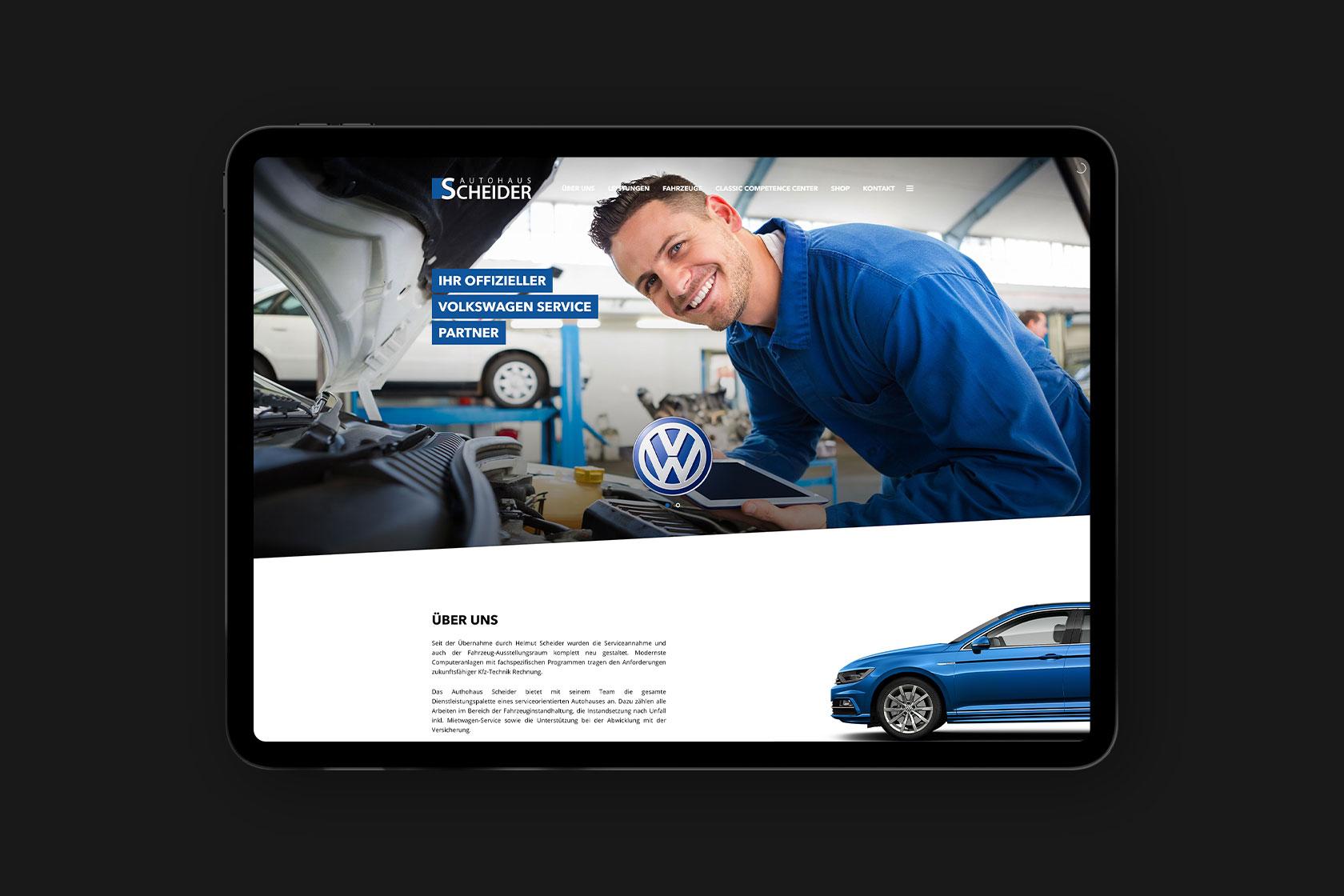 Webdesign für Autohaus Scheider aus Wittlich