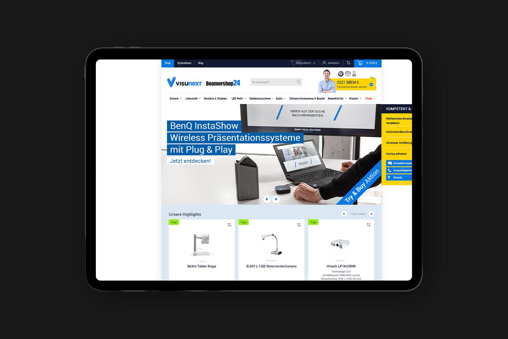 Visunext - Anbieter für Heimkino und Präsentationstechnik