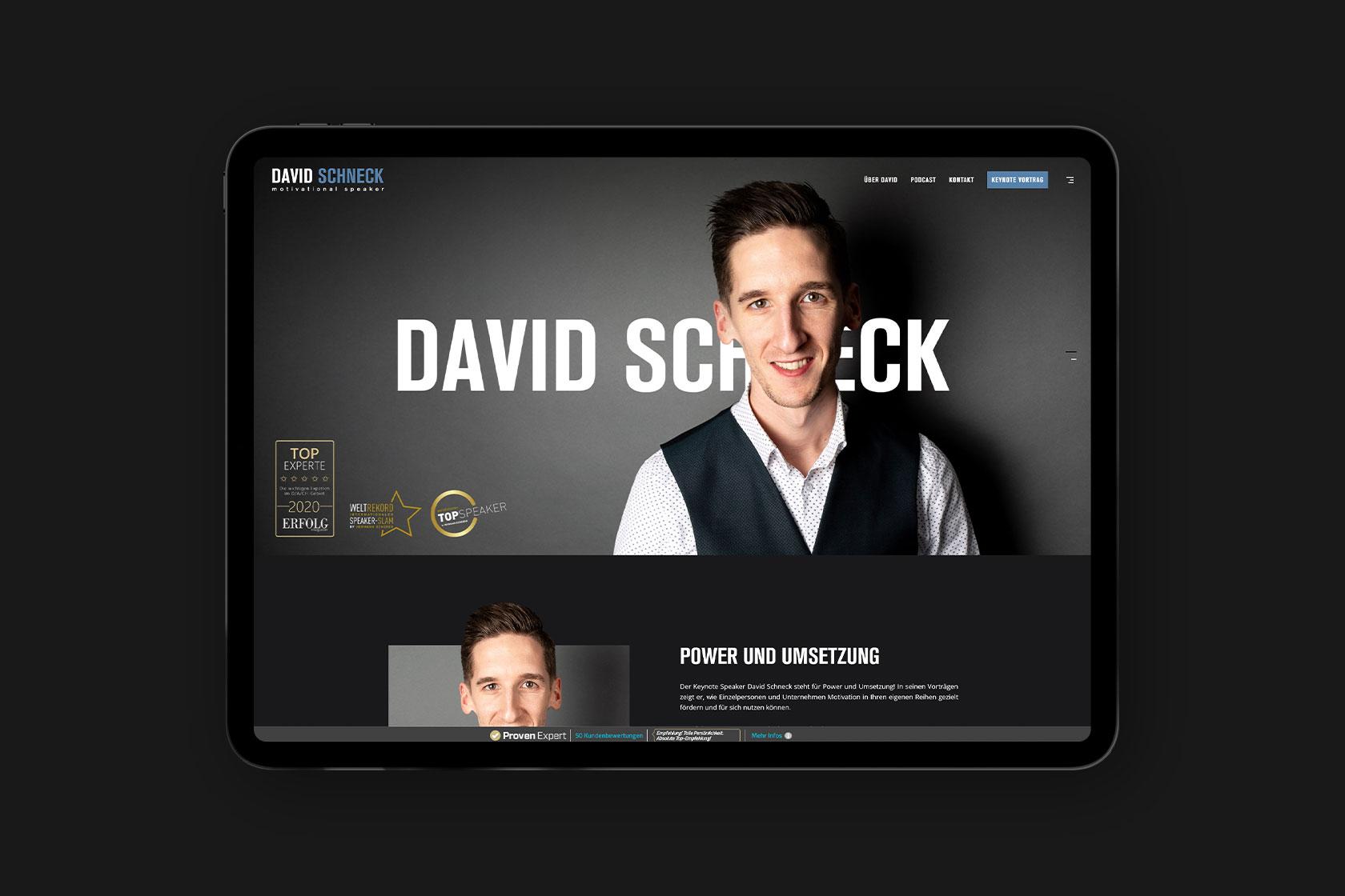 Website für David Schneck aus Wittlich
