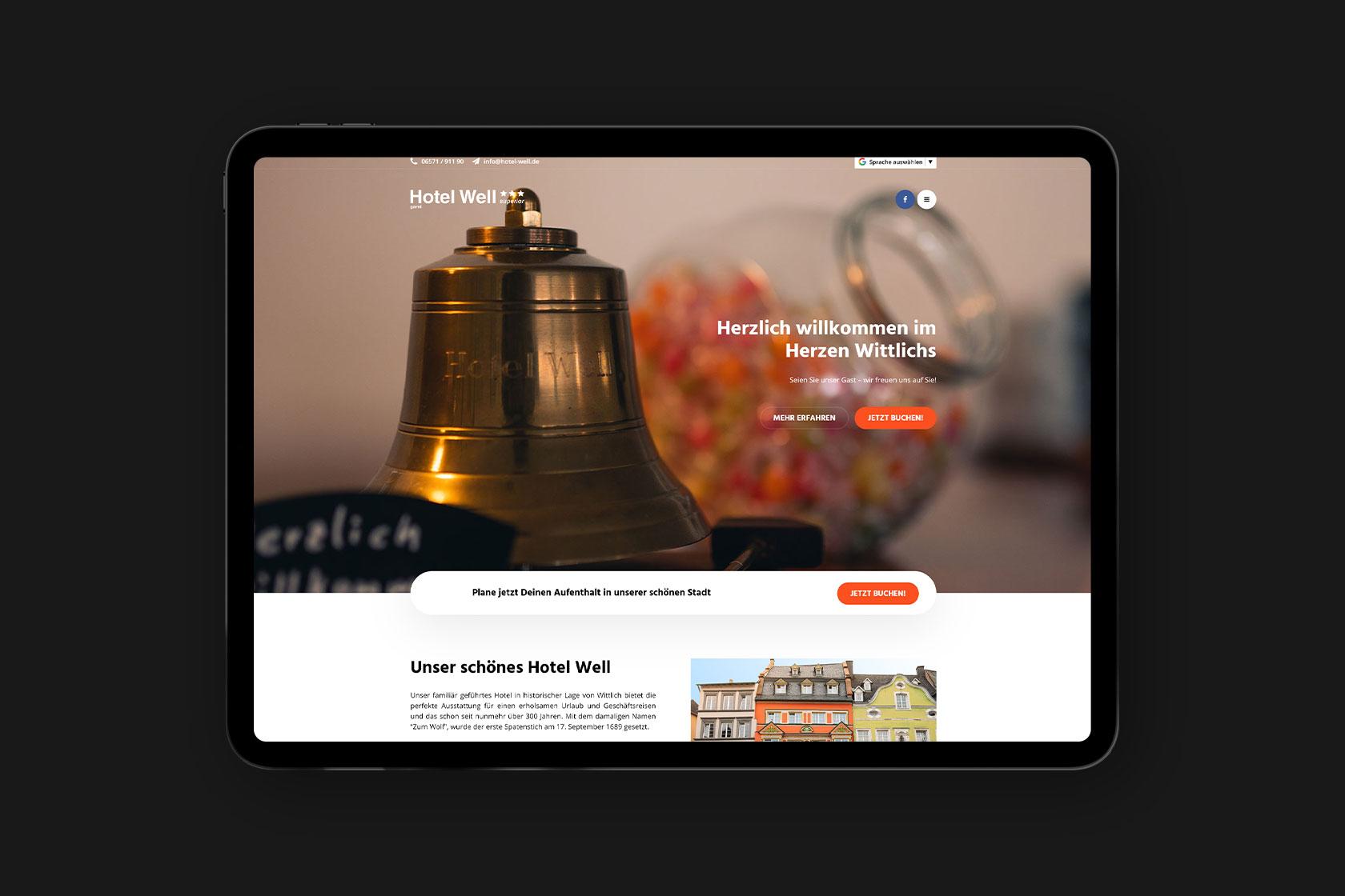 Website für Hotel Well in Wittlich