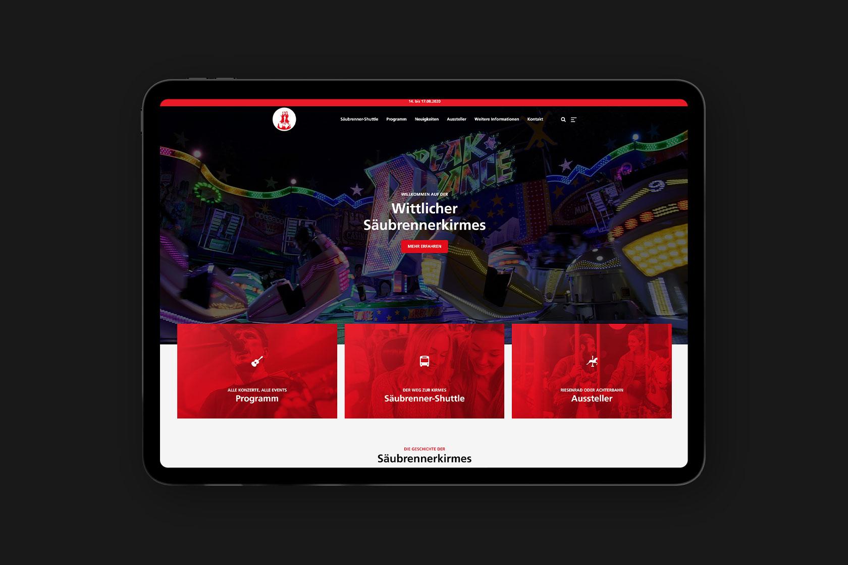 Website für die Säubrenner Kirmes in Wittlich