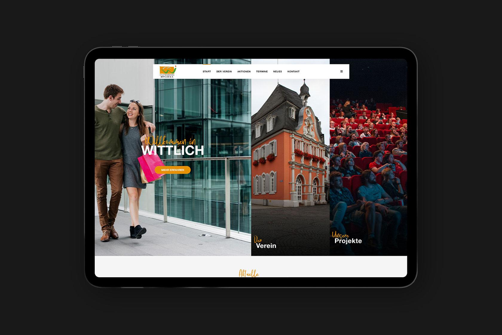 Webdesign für das Stadtmarketing Wittlich