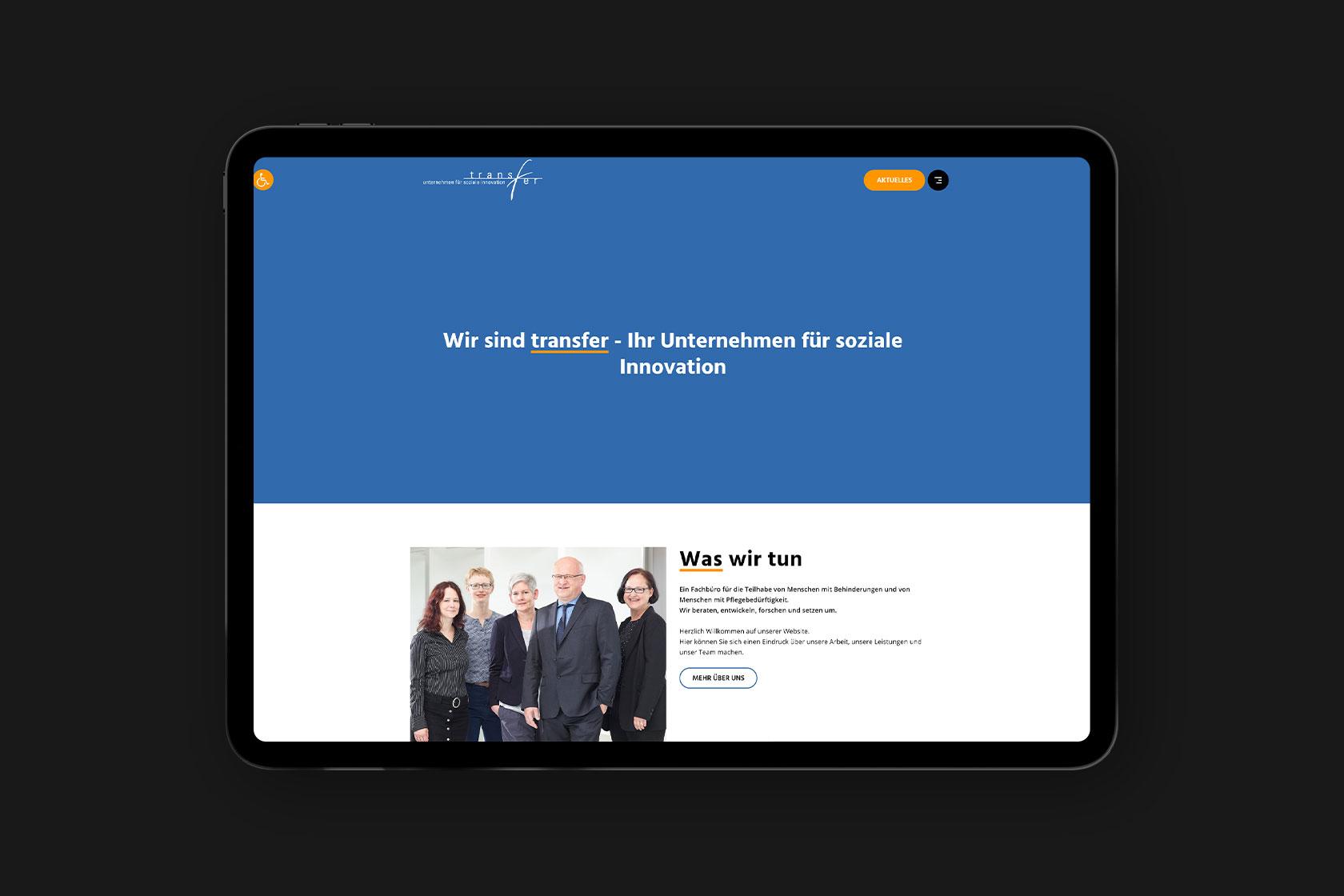 Website von Transfer aus Wittlich