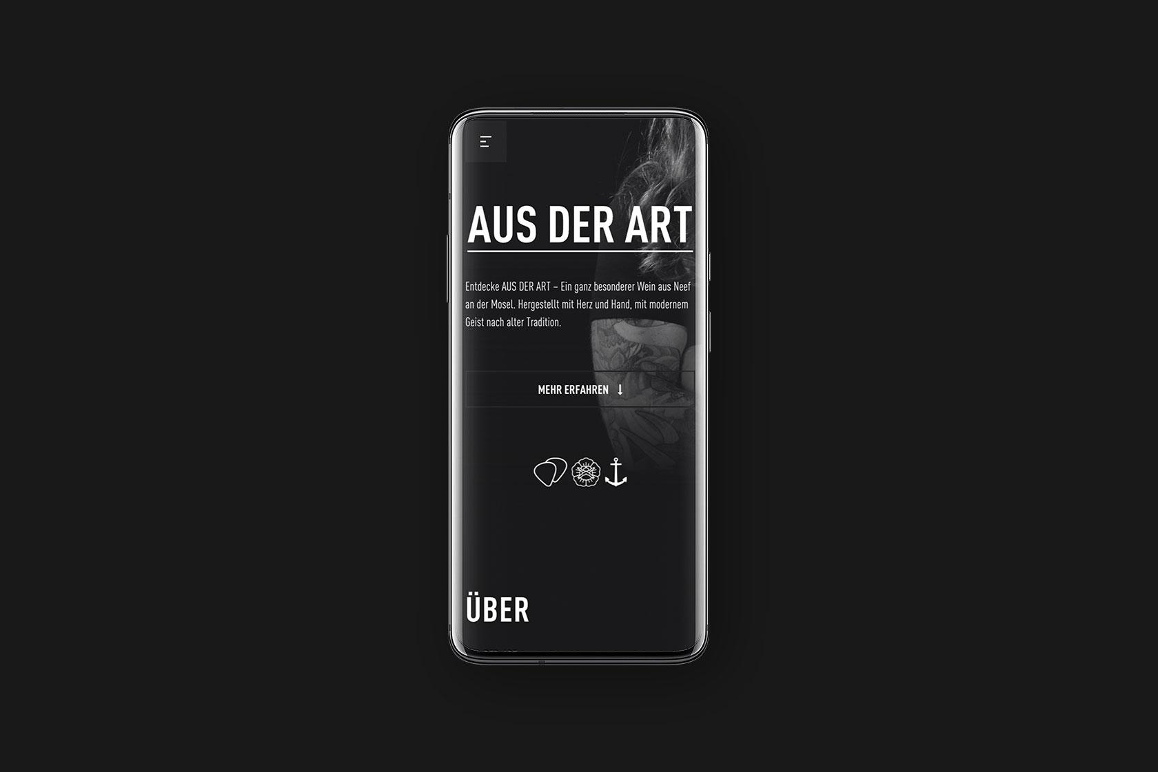 Responsive Webdesign für Aus der Art