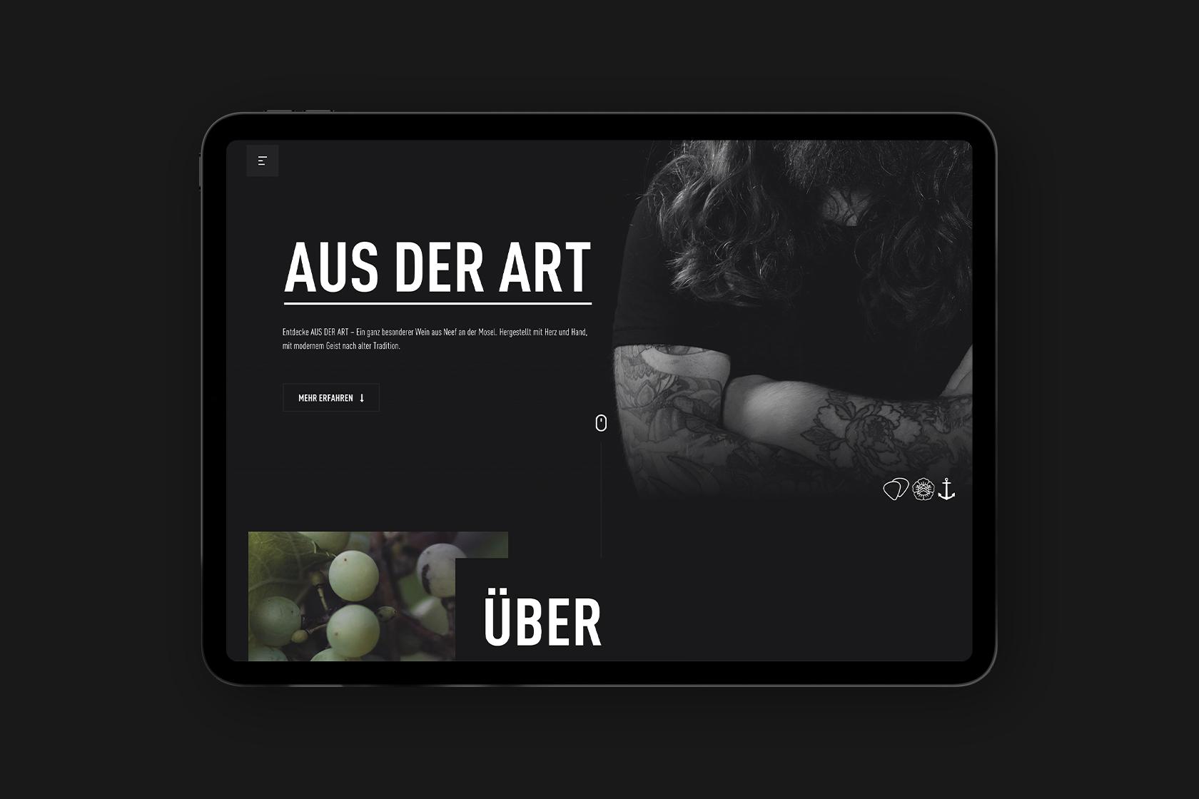 Website für Aus der Art