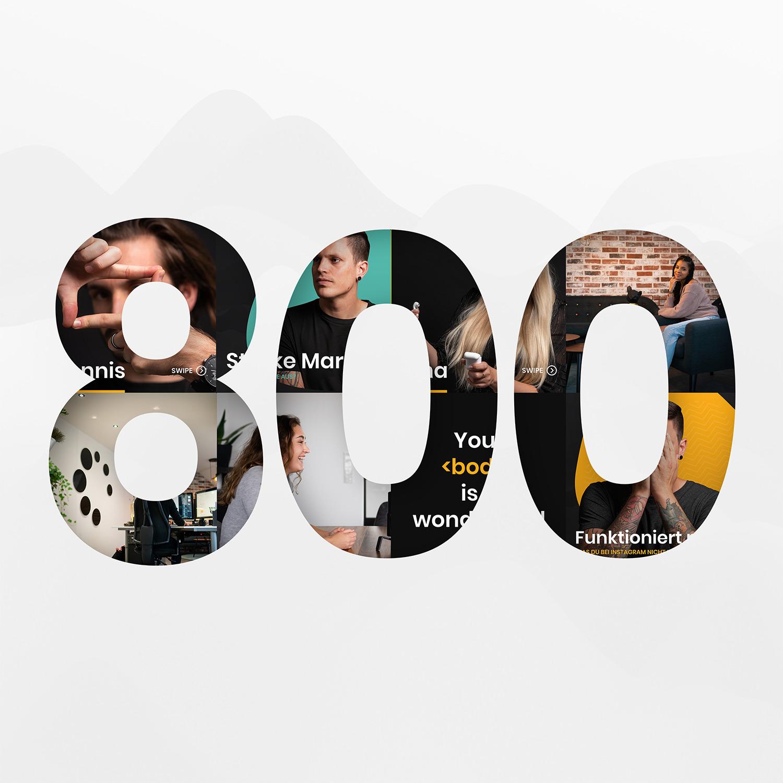 800 Follower bei Instagram