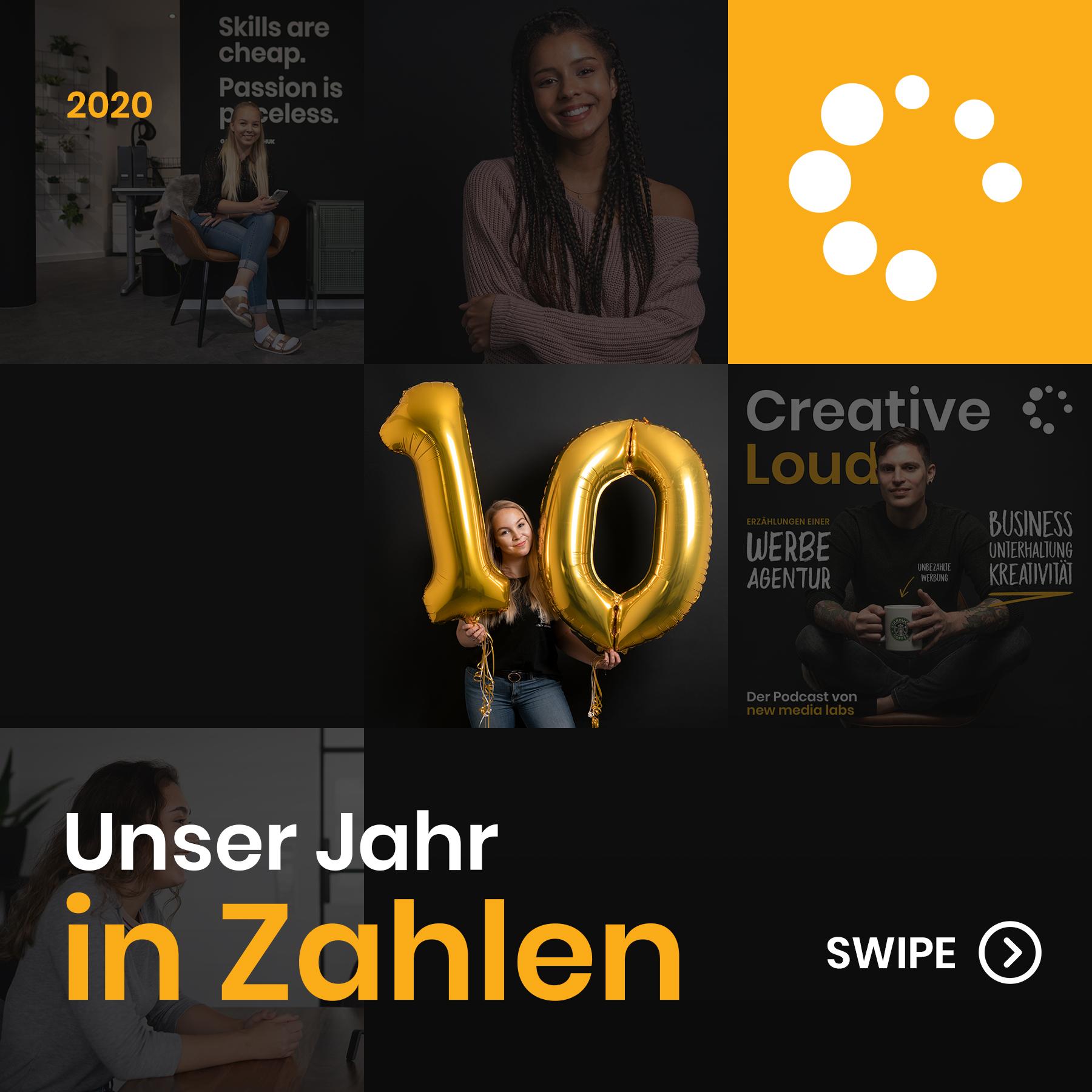 new media labs - Die Werbeagentur in Wittlich-Wengerohr - Unser Jahr 2020 in Zahlen