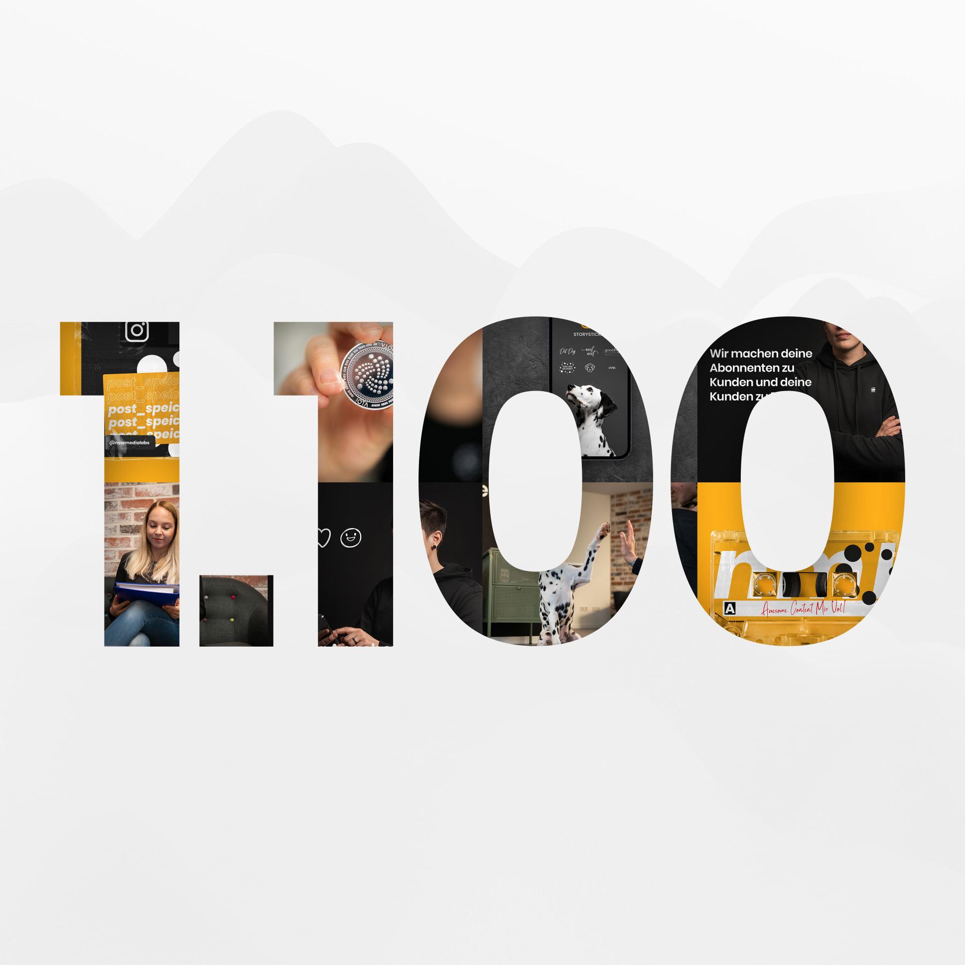 WOW 1100 Follower auf Instagram 🥳!